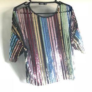 Multi Color Sequin Blouse